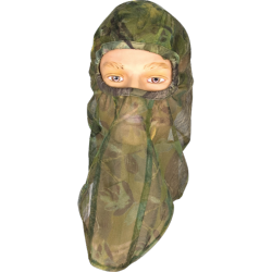 Cagoule filet chasse d'approche verte