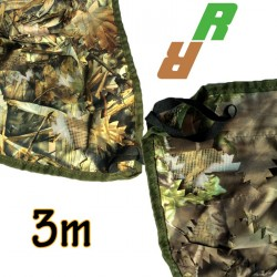 Filet de camouflage 3D réversible 3m