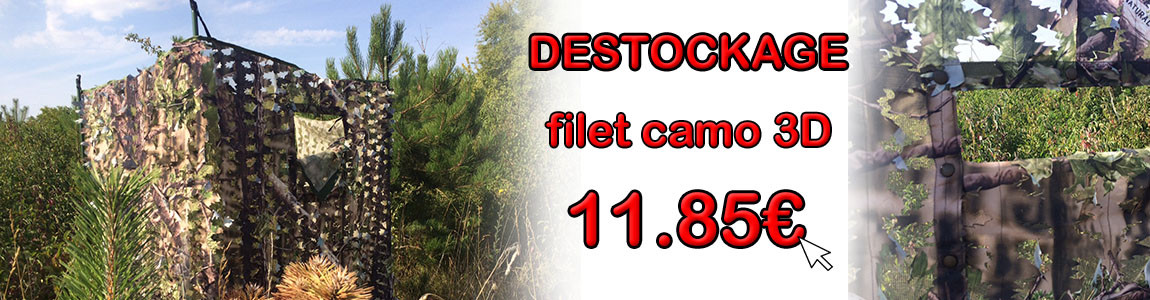 Promo filet camo 3D Natural Green